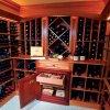 Cremalheira do vinho da madeira contínua/armário do vinho