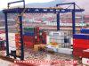 레일을 설치하는 콘테이너 미사일구조물 기중기