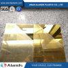 Feuille auto-adhésive d'acrylique de miroir de feuille acrylique de miroir de l'or 1mm