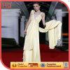 ハイエンドSleevelessライト黄色いLong Bridal Dress (wzsd-514-001)