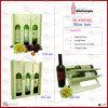 Três garrafas de vinho Madeira titular de saco de transporte de embalagens (6091)
