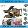 Qt4-25 Machine automatique de bloc de béton -brique creuse solide en maçonnerie, l'asservissement de brique, de paver la brique