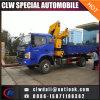 Buena calidad 4X2 grúa telescópica del carro del auge de 5 toneladas