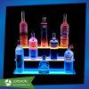 Wein-Zahnstange LED-Bildschirmanzeige Soem-Plexigalss, 3 Reihe-Acrylalkohol-Wein-Flaschen-Bildschirmanzeige