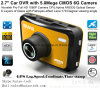 2.7  câmera cheia confidencial da caixa negra do carro de HD 1440p com o carro DVR de Novatek 96660, G-Sensor, visão noturna, gravador de vídeo de estacionamento de Digitas do traço do carro do controle