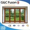 Finestra di alluminio del sandalo dell'ambiente amichevole di legno giallo del grano