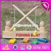 Brinquedo de madeira W01A193 do barco de pesca do brinquedo novo do jogo da infância do projeto