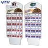 Estante de visualización del bolso de café de la cartulina de la venta al por menor de la cafetería