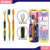 Tägliche erwachsene Zahnbürste mit schlanken u. weichen Borsten 2 in 1 Wirtschaft-Satz 809