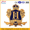 Style europeo Metal Shield Badge in Gold Plating