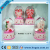 Polyresin Egg Shape Snow Globe per Wedding Gift (HGS011)