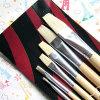 Pinceau à haute qualité en soie blanche pour huile Aquarelle Gouache Peinture d'artiste