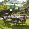Rattan esterno del patio che pranza la mobilia di vimini stabilita dell'hotel del giardino