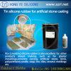 Molde dos produtos do cimento que faz a borracha de silicone de RTV