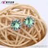 Fashion Elegant Rhodium - Boucles d'oreilles en cristal rond en cristal zircon Pin -29588