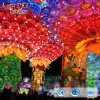 Parque temático de linterna decoración Festival Linterna de tejidos de colores para la venta