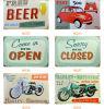 Arti della parete dell'annata per il randello/ristorante, manifesto dello stagno del metallo della birra, retro segno dello stagno della bevanda