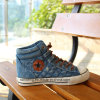 Помытые люди джинсовой ткани Высок-Отрезали ботинки холстины (SNC-02085)