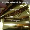 Il doppio parteggia stagnola calda per lo strato del PVC, dell'ABS della plastica in argento o il colore dell'oro