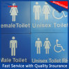 Мужчина/женский/Unisex знак туалета с Braille для публики