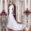 Robes de mariage de sirène de photos de lacet de cou de bateau vraies (TM-MS004)