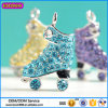목걸이 Wholesale# 3765를 위한 2015 파랑 다이아몬드 스케이트 매력