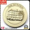 Kundenspezifische Gebäude-Münze der Vergoldung-3D
