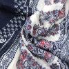 Acessório de forma impresso projeto do lenço da flor da forma para xailes das mulheres