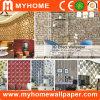 Venta caliente la decoración del hogar a bajo precio del papel de pared 3D de PVC