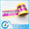 Película plástica impresa transparente del color