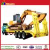 Trois essieux BPW Transport remorque de camion de lit d'excavatrice basse