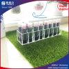 Étalage acrylique clair de plateau de mémoire de produits de beauté