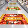 Fabrik-Preis-kundenspezifischer Einzelverkauf zeigt Einkaufszentrum-Vinylfußboden-Aufkleber an