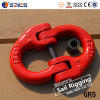 G80 Nosotros pintado de rojo el eslabón de la Cadena de aleación forjada