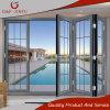 Porte Bi-Se pliante en verre de bâti de patio de double en aluminium de porte