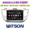 Grand écran 9 Witson Android 6.0 DVD de voiture pour Hyundai Tucson/IX35 (MIDDEL/haute) 2016 avec l'écran d'origine avec A/C Affichage