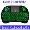 Mini I8 Wireless Keyboard 3 de Afstandsbediening English Russian Touchpad van Colour Backlit 2.4GHz voor Android TV van PC Smart van TV Box Tablet