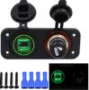 Новые поступления 12V Двойной автомобильный мото USB разъем прикуривателя вольтметр с цифровым дисплеем