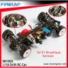 1/10th Автомобиль игрушки смещения RC маштаба 4WD с рамкой металла