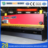 QC11y hidráulica CNC máquina de corte de chapa de aço