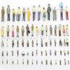 100개의 X 다른 오른 절묘한 플라스틱 색깔 숫자