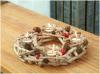 Décoration en bois Natuaral original creative porte-bougie avec des tasses en verre