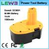 14.4V Ni-MH Power Tool Battery voor Dewalt DC9091 (Yellow+Black)