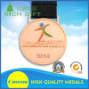 Médailles faites sur commande de bonne qualité de stand d'événements sportifs avec la bande de médaille d'étoile