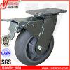 Gesamtfußrolle der bremsen-4  X2  mit grauem TPR Gummi-Rad