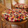 Het multi Kleur Gevoelde Tapijt van de Wol van het Tapijt van de Dekens van de Bal Met de hand gemaakte