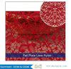 Merletto africano di più nuova di Tulle del merletto alta qualità del tessuto con il merletto della Nigeria dei Sequins per la cerimonia nuziale