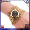 Yxl-418 New Design Long Chain Women Wrap Around Weave Lady Relógios de pulseira Fancy Women Ladies Watch Wrist