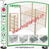Jaula del almacenaje de compartimiento del metal del contenedor del alambre del rectángulo del acoplamiento