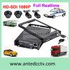 Cartão DVR automotriz móvel de HD 1080P SD com 4 câmeras e seguimento do GPS